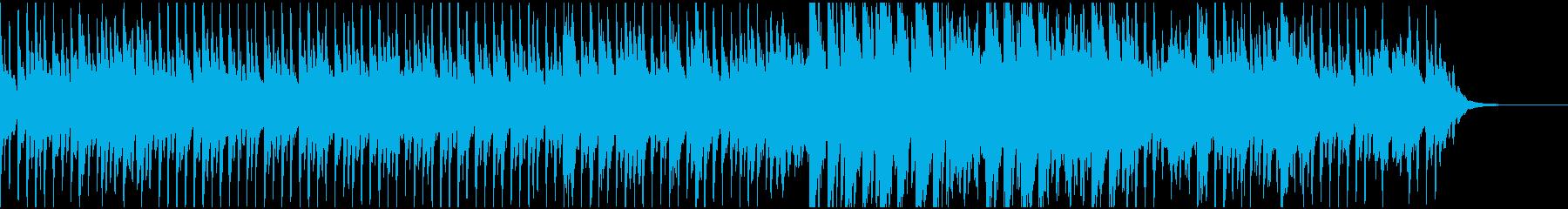 感動的なピアノ、ストリングス(テクノ)の再生済みの波形