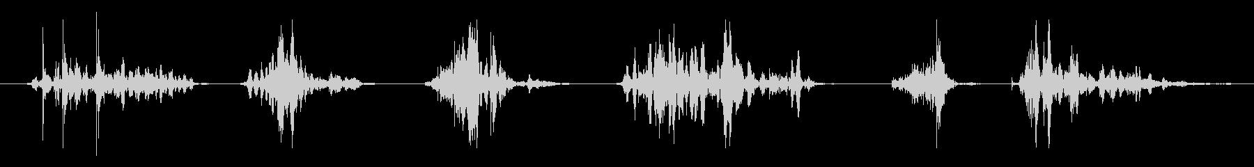 ウッド、ヘビードラッグショートx6の未再生の波形