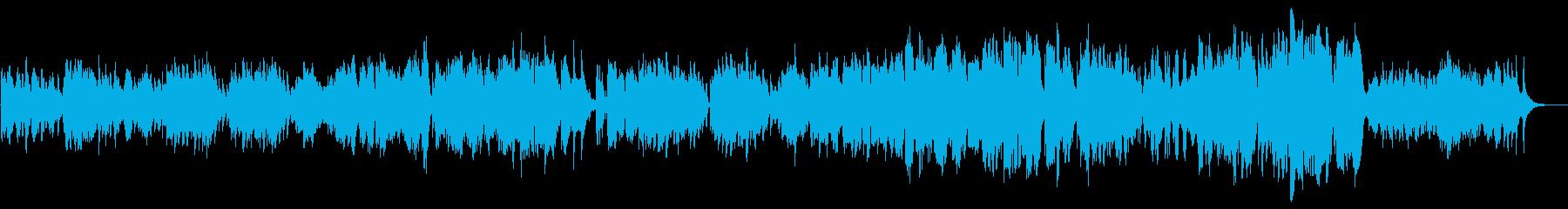 女性目線の結婚式用バラードの再生済みの波形
