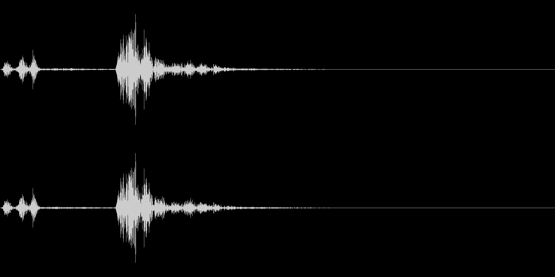 カチャ(スイッチ、ボタン、キャンセル)の未再生の波形