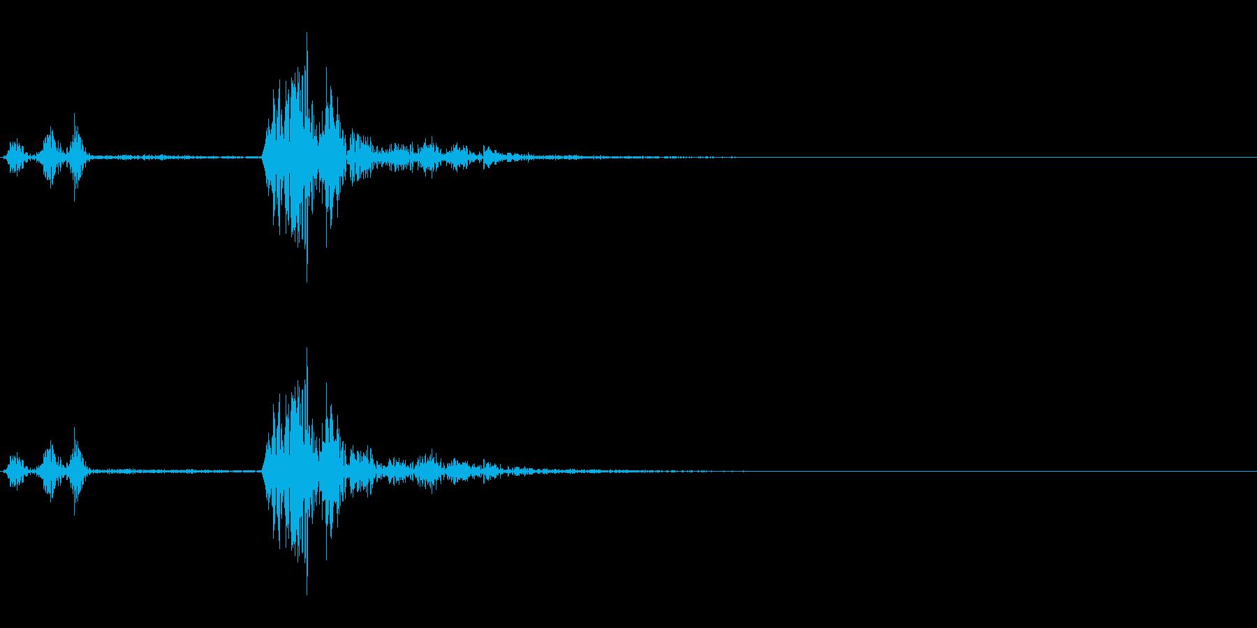 カチャ(スイッチ、ボタン、キャンセル)の再生済みの波形