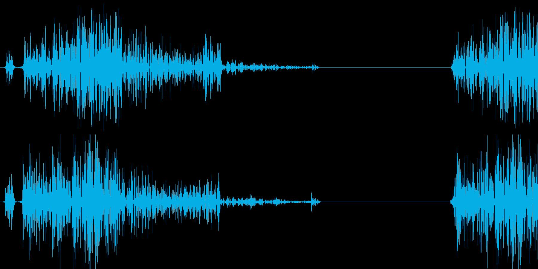 カチッ(時計音、文字の回転音等)の再生済みの波形