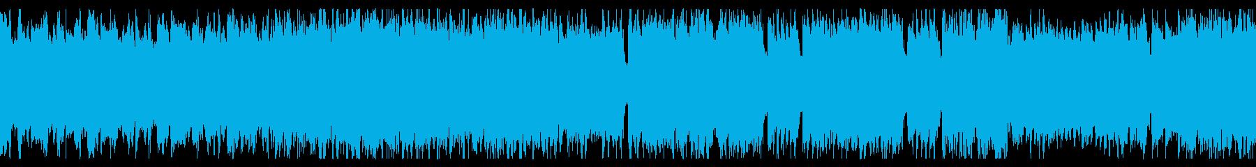 ループ素材 疾走感のあるチップチューンの再生済みの波形