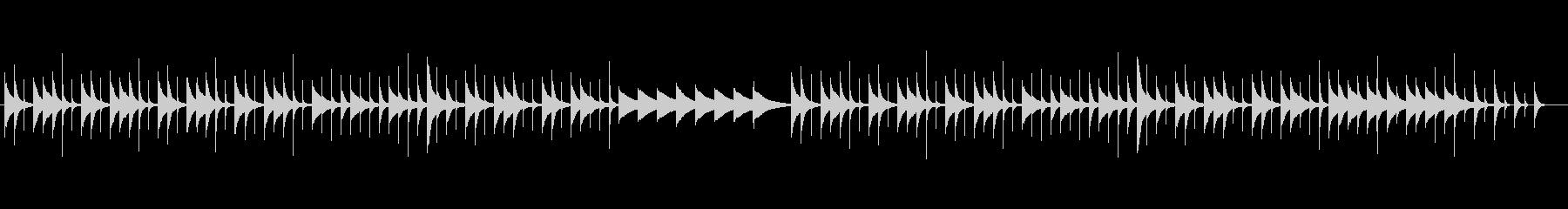 素朴な音色が切ないオルゴールの未再生の波形
