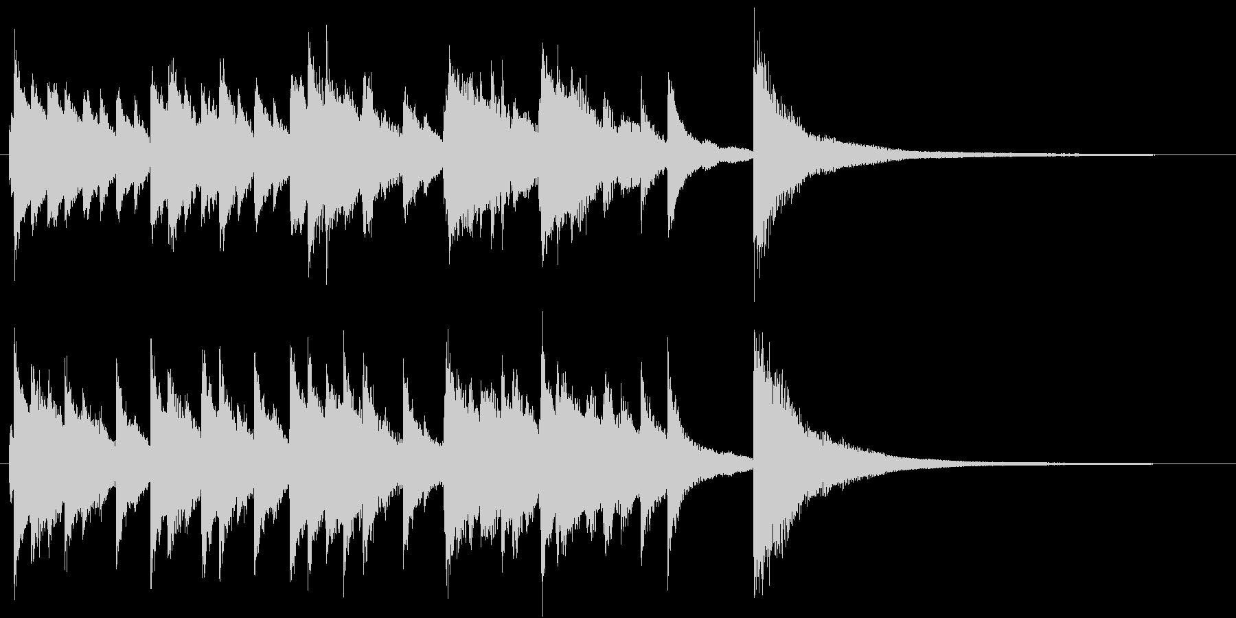 動画のエンディング向けピアノソロジングルの未再生の波形