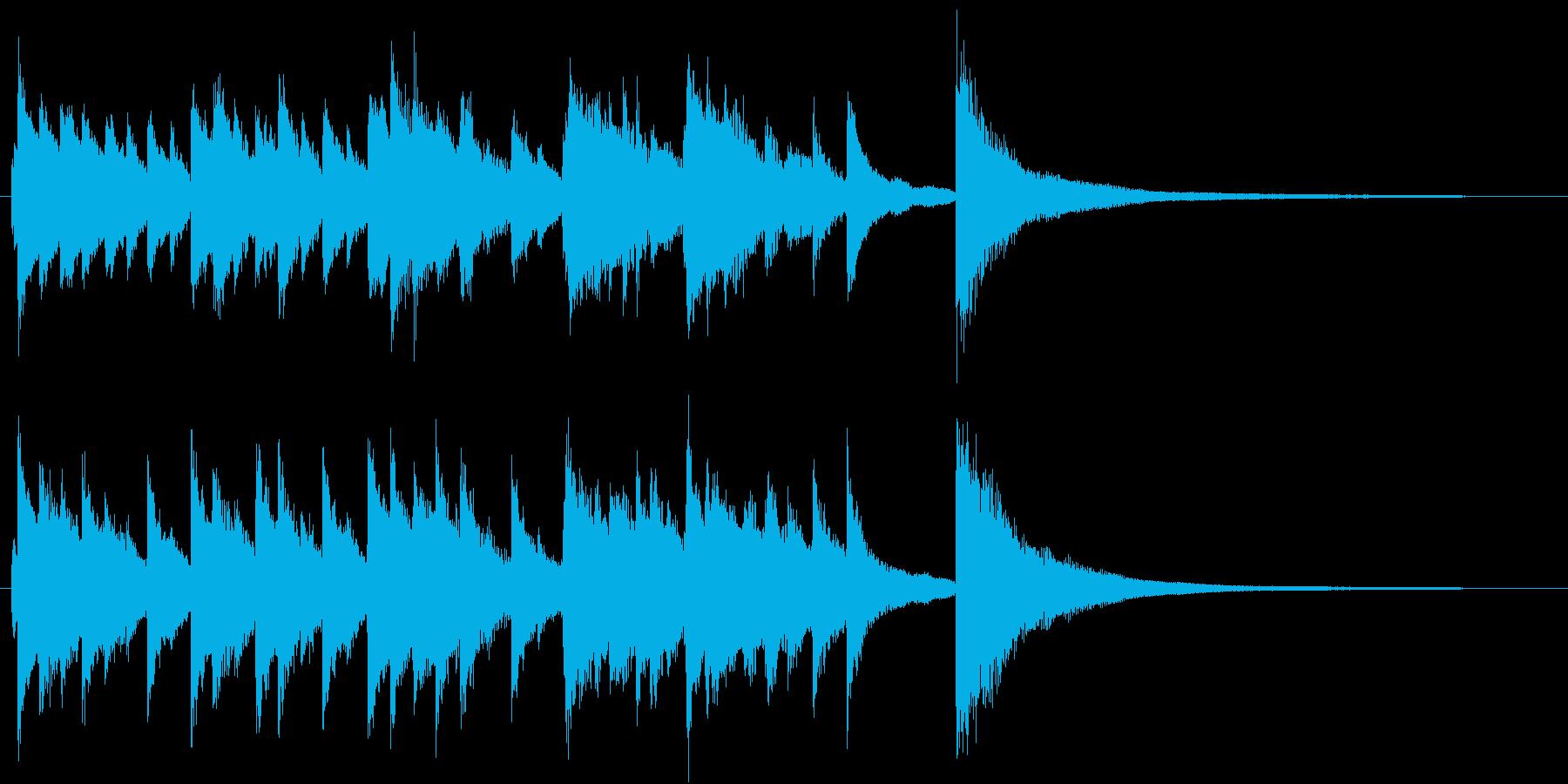 動画のエンディング向けピアノソロジングルの再生済みの波形