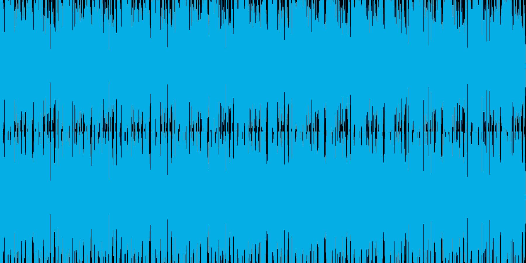 薄暗く怪しい雰囲気のループ系ジャズの再生済みの波形