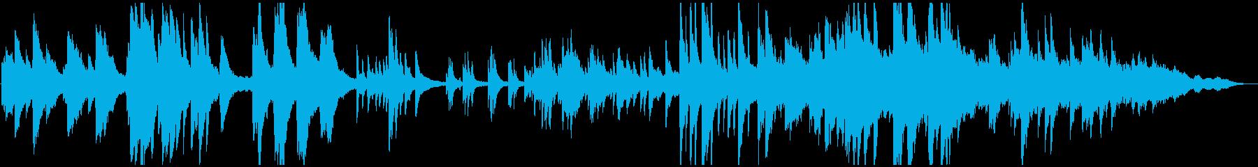 美しい映像に合うアンビエントなピアノ曲の再生済みの波形