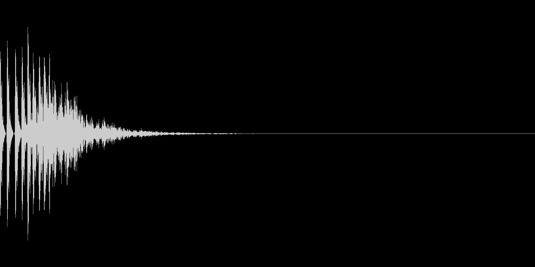 木製のコツコツしたシステム音の未再生の波形