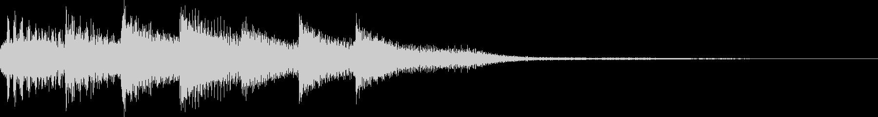 短いピアノ映像用ジングル1の未再生の波形