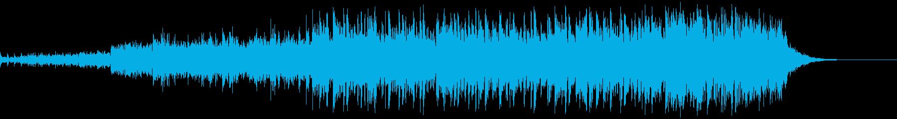 スリックオルタナティブロックテーマの再生済みの波形