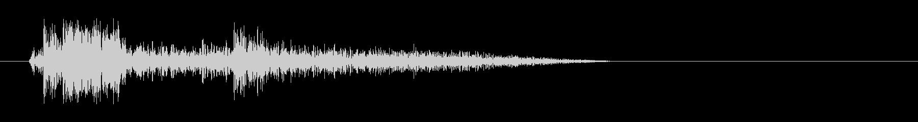 パシャッ(キレの良いシャッター音)の未再生の波形