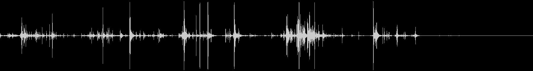 キリキリした摩擦音 6の未再生の波形
