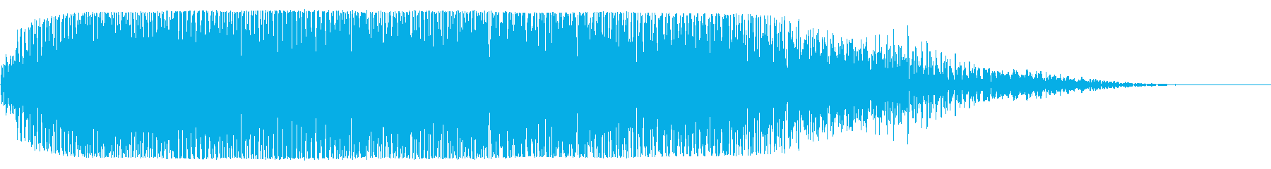 宇宙船通過(神秘的または幻想的な音)の再生済みの波形
