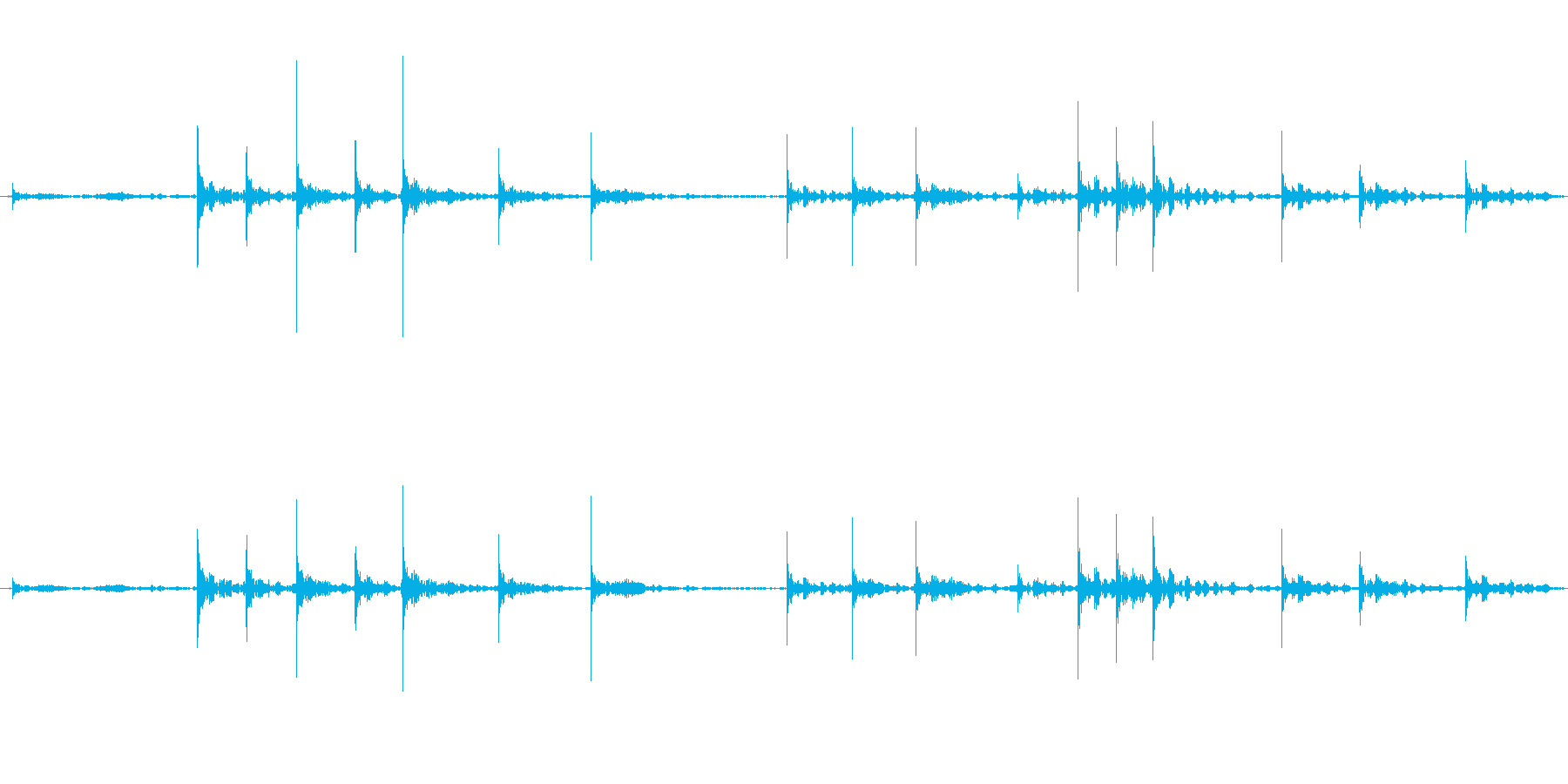 黒板にチョークで文字を書くときの音ですの再生済みの波形