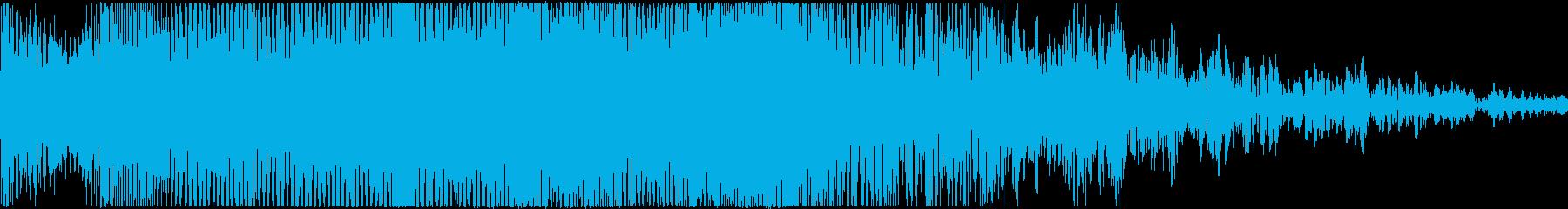 ダイナミックでかっこいいメロディーの再生済みの波形