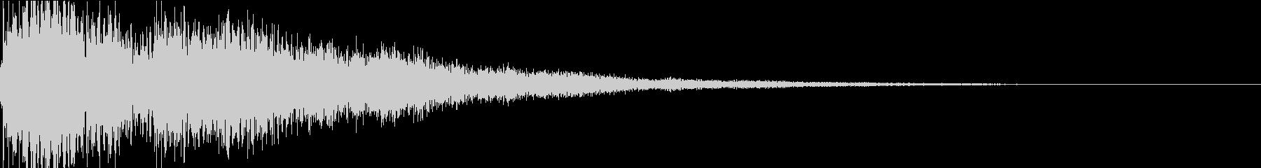 琴と太鼓の和風インパクトジングル! 03の未再生の波形