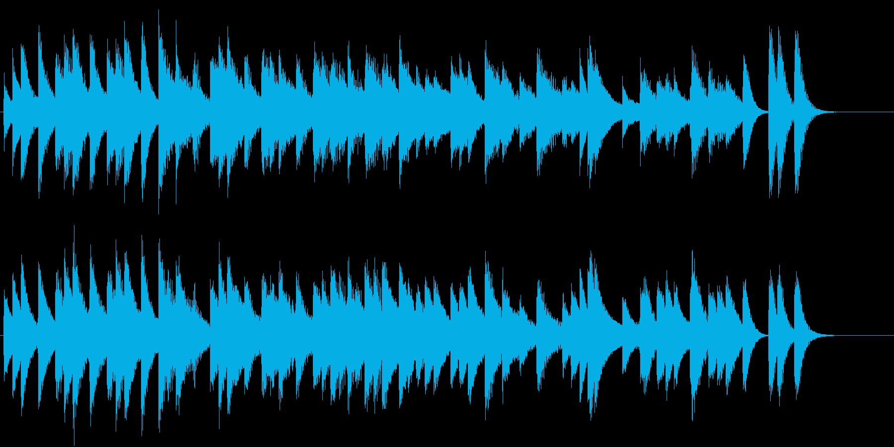 のんびり可愛いらしいワルツピアノジングルの再生済みの波形