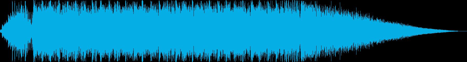 デジタルエピックロック曲のサウンドロゴの再生済みの波形