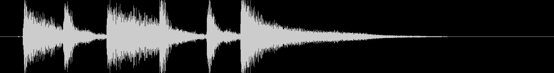 生ピアノで奏でるジャジーな効果音の未再生の波形