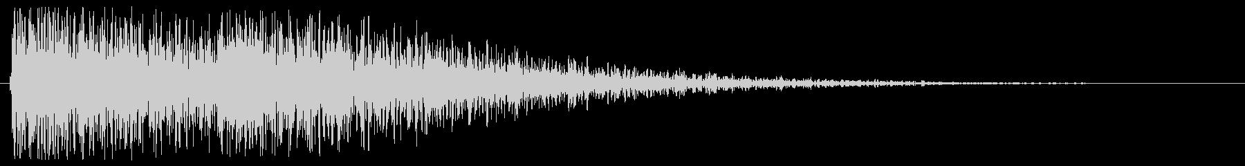 2種類のトーンで奏でる効果音の未再生の波形