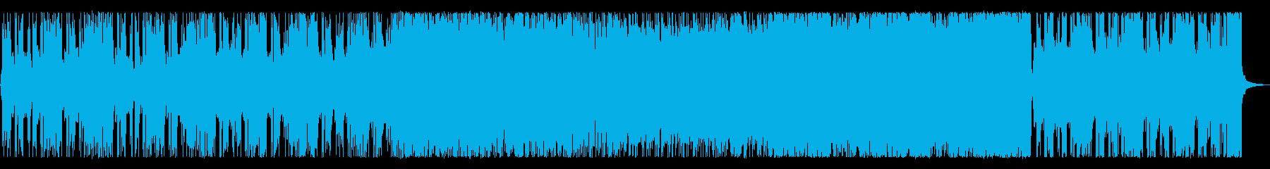 スタンダードなロックギターインストの再生済みの波形