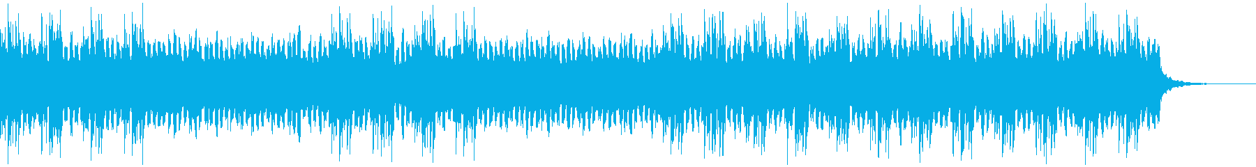 少しノイジーなかわいい雰囲気の曲の再生済みの波形