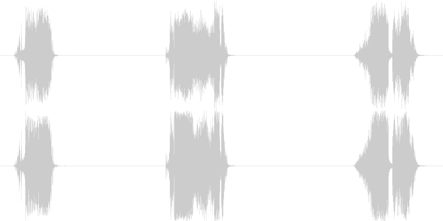 トランジション 擦れる音 09 の未再生の波形