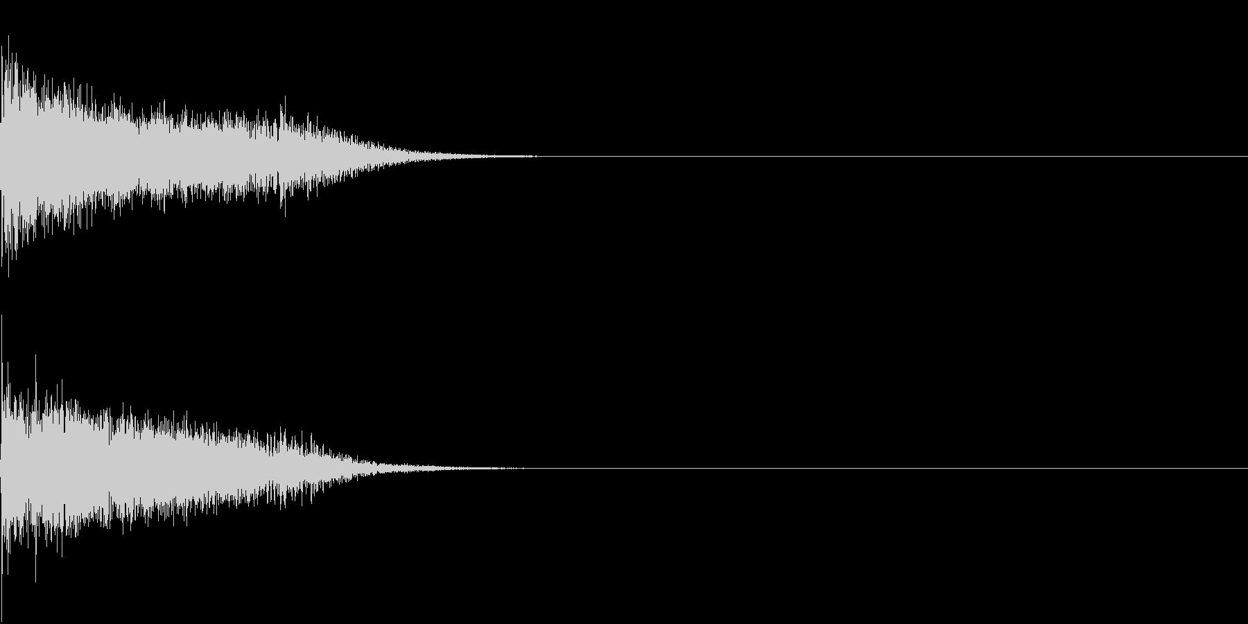 衝撃 金属音 恐怖 震撼 ホラー 03の未再生の波形