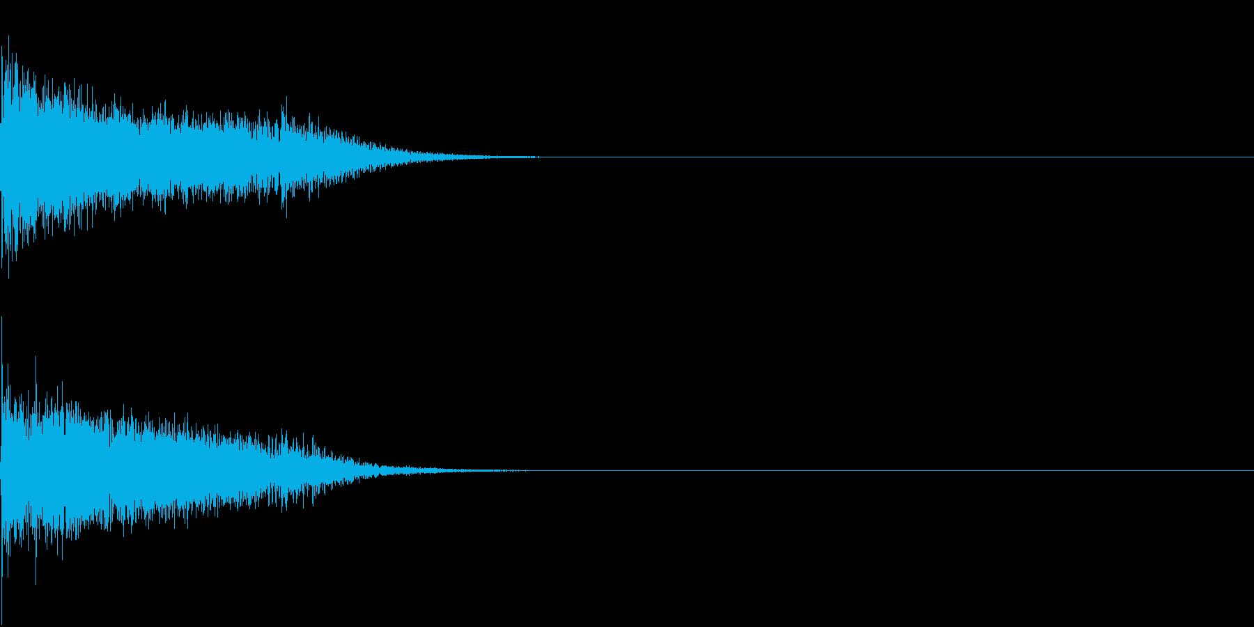 衝撃 金属音 恐怖 震撼 ホラー 03の再生済みの波形