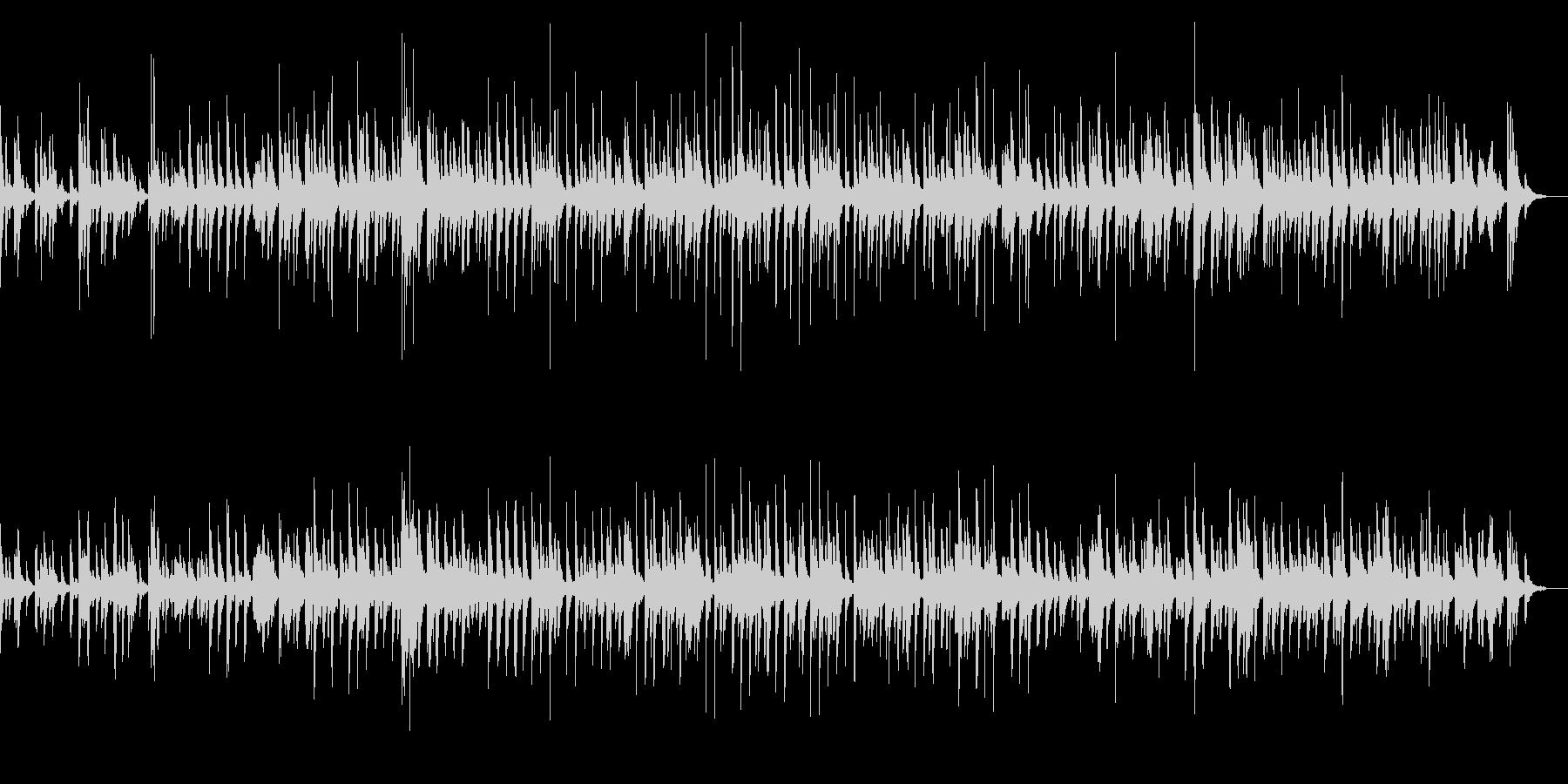 コミカルな弦楽四重奏のピッチカートBGMの未再生の波形