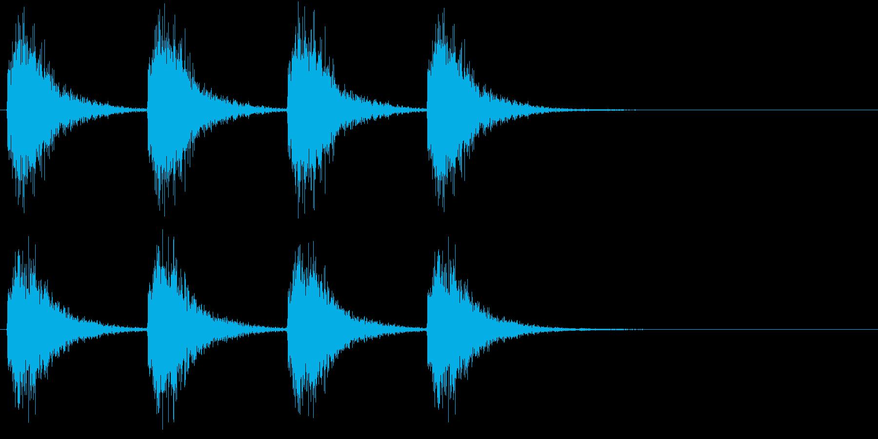 警告・警報・サイレン・ブザー#2(残響)の再生済みの波形
