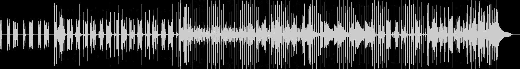 ベースの重低音が響くスローテンポなロックの未再生の波形