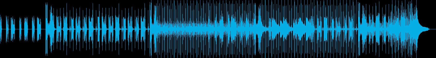 ベースの重低音が響くスローテンポなロックの再生済みの波形