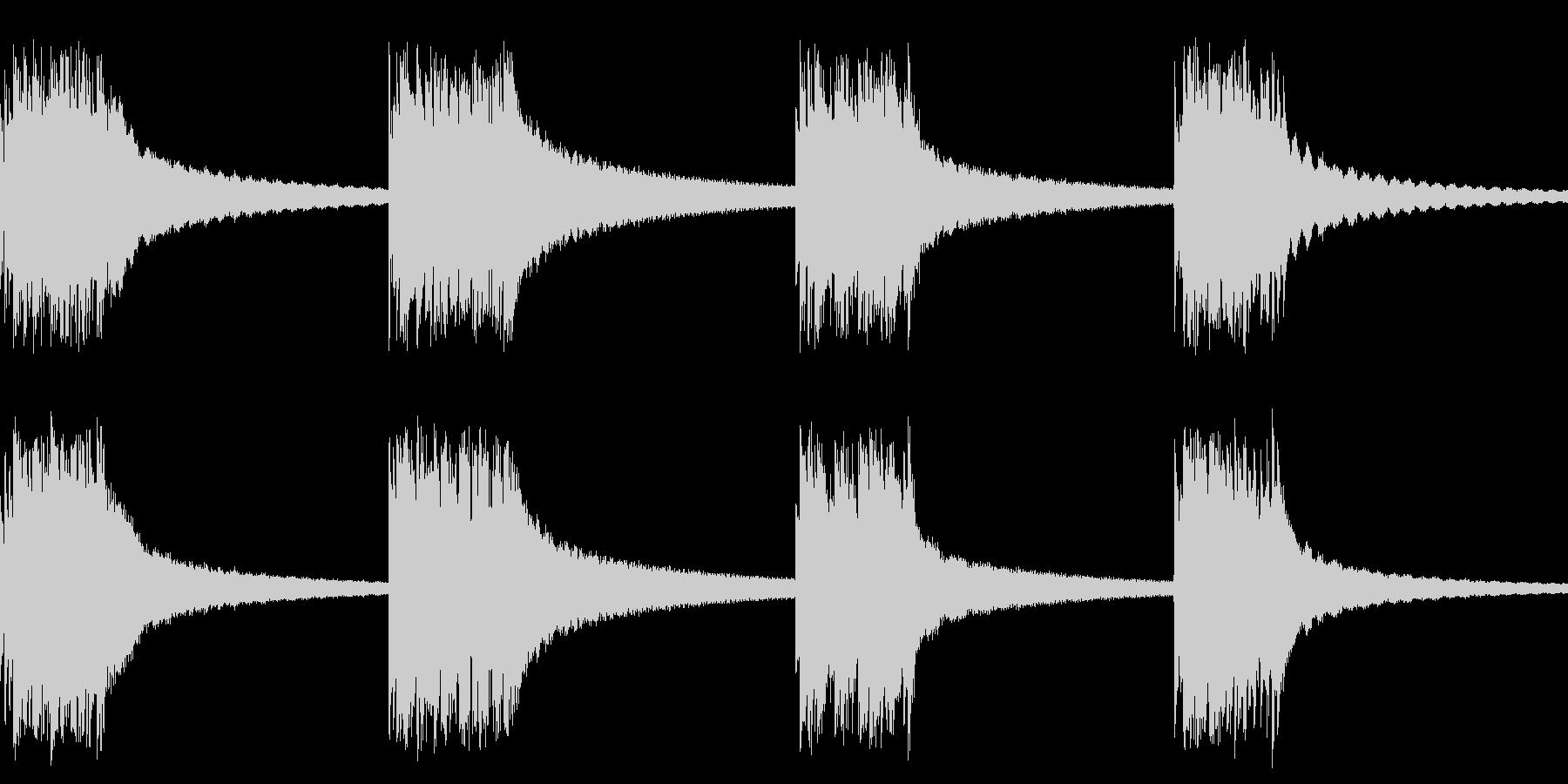 黒電話の着信音(ベルを連続で打ちつける)の未再生の波形