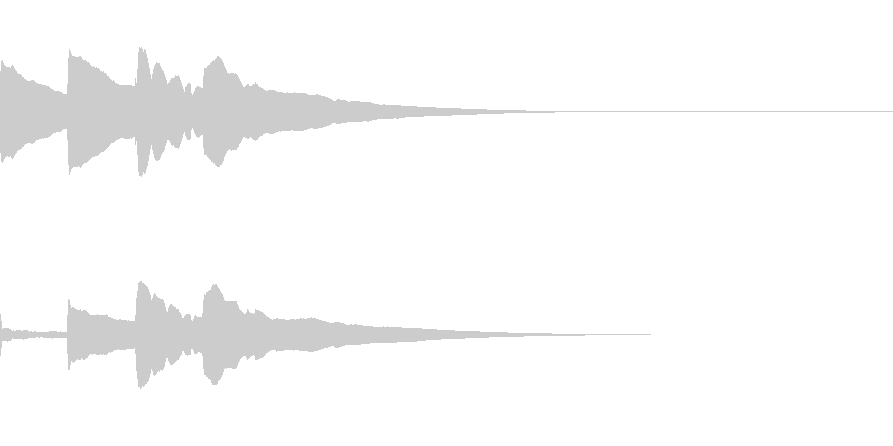 お知らせ・アナウンス音B下降(普通)02の未再生の波形