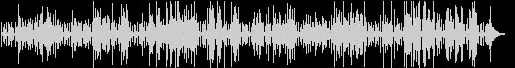 のんびりラグタイム風のピアノの未再生の波形