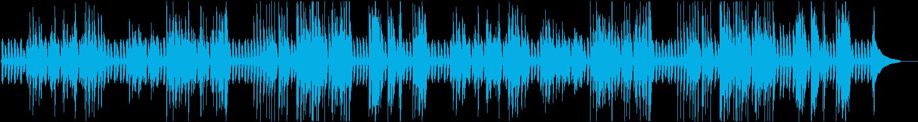 のんびりラグタイム風のピアノの再生済みの波形