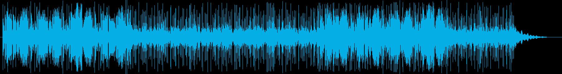 和的な笛と躍動感のあるリズムの再生済みの波形