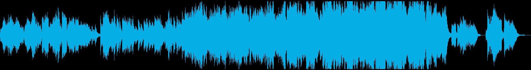 春や卒業式をイメージしたBGMの再生済みの波形