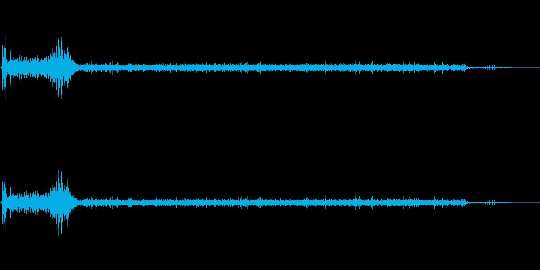 [生録音]水洗トイレを流す06の再生済みの波形