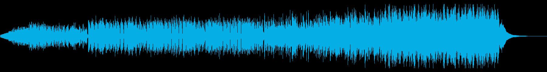 アラビアンな音色や和音のコミカル音楽の再生済みの波形