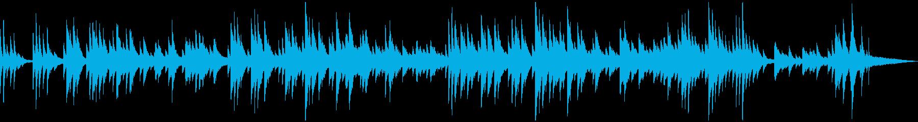 柔らかくロマンチックなピアノ曲の再生済みの波形