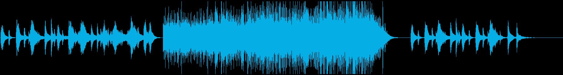 爽やかで透明感溢れるハープと弦(水音無しの再生済みの波形