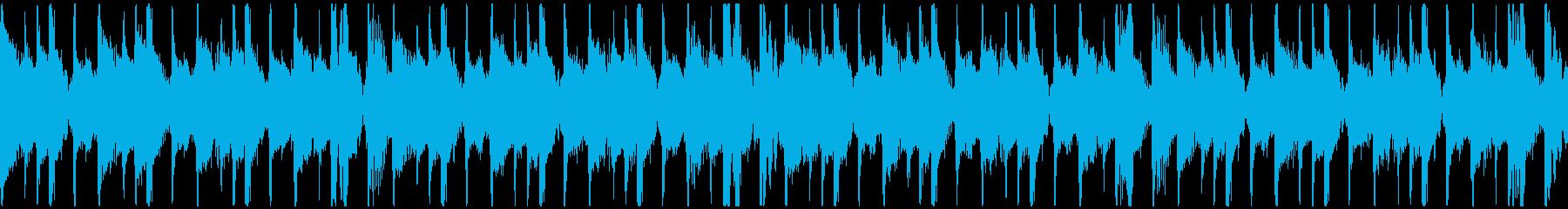 トロピカル・おしゃれ・情熱的BGMループの再生済みの波形
