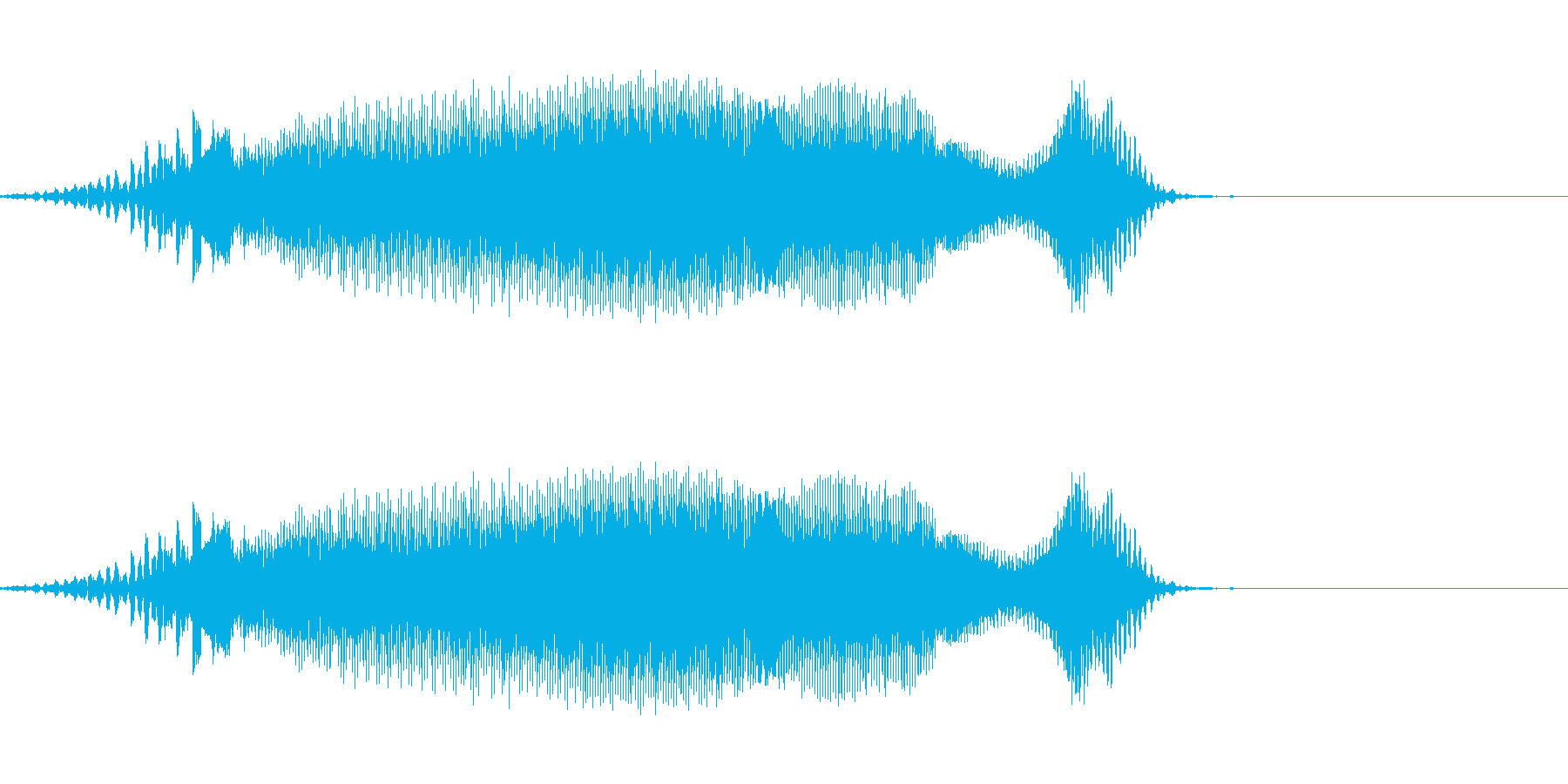 奥義!(長め)の再生済みの波形