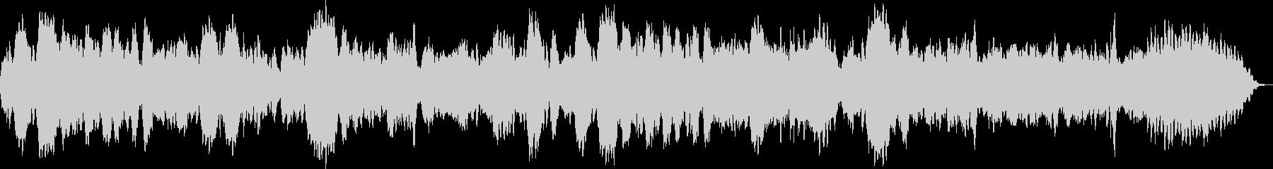 フルートとハープシコードのノスタルジー曲の未再生の波形