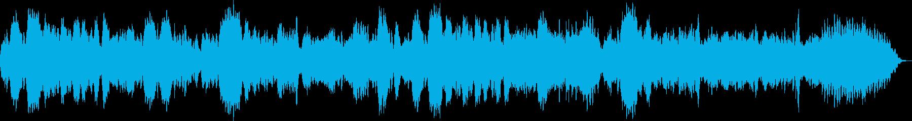 フルートとハープシコードのノスタルジー曲の再生済みの波形