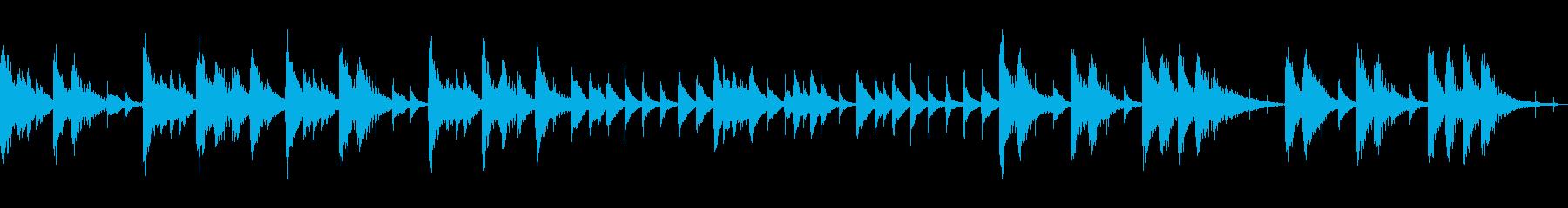 とぼけた感じのコミカルなショートループの再生済みの波形