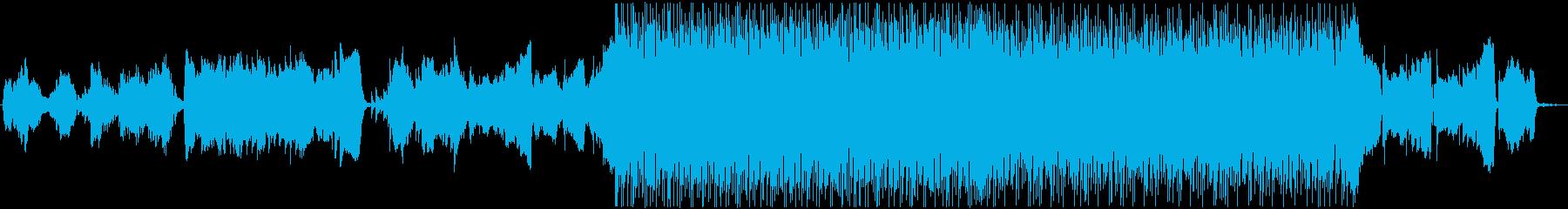 神秘的な雰囲気の和風BGMの再生済みの波形